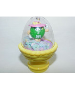 M Ms Plain Green In a Dome Surrounded by Confetti Topper Easter 3 Inch T... - $6.99