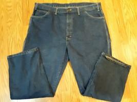 Dickies Jeans Prewashed Carpenter Mens Blue Denim Cotton Size 44x30 - $19.79