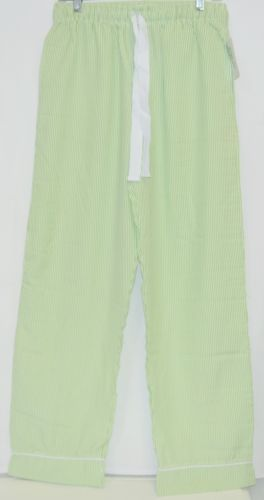 Ellie O Adult Seersucker Lounge Pants Size Small Color Green