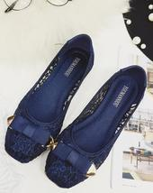 Royal Blue See Through Bridal Ballet Flats Shoes,Navy Blue Wedding Flats... - £24.07 GBP