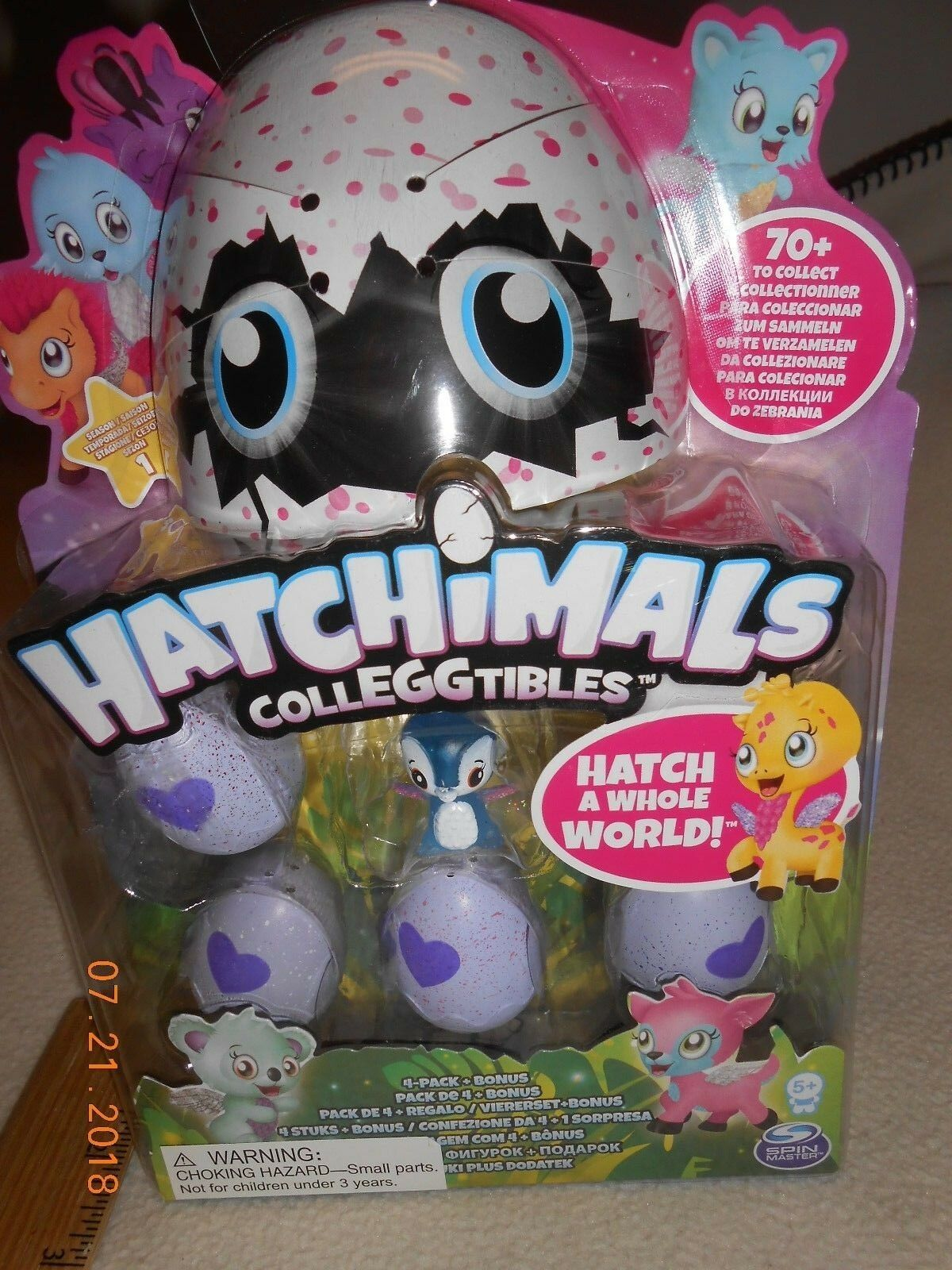 New Hatchimals Colleggtibles Mini 4 Pack w/ Bonus Hatchimal kids Easter Basket