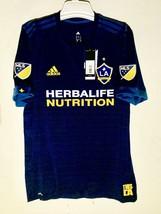 Adidas MLS Los Angeles Galaxy Authentic Team Jersey Navy sz L - $39.59
