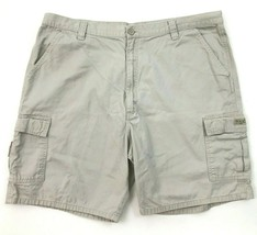 Wrangler Cargo Shorts Size 42 Bone Khaki Straight Baggy Media TECH Pocke... - $15.81
