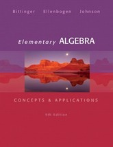 Elementary Algebra: Concepts & Applications (9th Edition) [Hardcover] [D... - $129.95