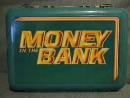 WWE Mattel Money In The Bank Briefcase Action Figure Carry Case GREEN - $59.00