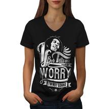 Bob Marley Dont Worry Shirt Rasta Song Women V-Neck T-shirt - $12.99+