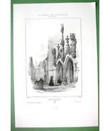 SWITZERLAND Portal of Church at Zug - SUPERB Litho Print - $16.20