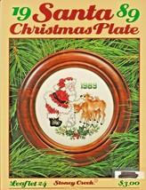 "Stoney Creek ""1989 Santa Christmas Plate"" Cross-Stitch - Gently Used - $4.00"