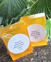 Lemon soap, health and beauty, glycerin soap, bath and body, glycerin so... - $4.75