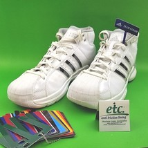 Womens 9 1/2 Adidas Pro Model Team Color Change Stripe White Basketball ... - $24.72