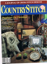 Country Stitch Monthly Journal of Cross Stitch Designs Back Issue Sept 1989 - $6.00