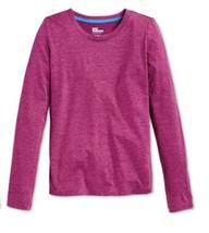 Epic Threads Girls' Solid Long-Sleeve T-shirt, Perfecr Plum, Size L - $9.49