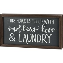 Primitives by Kathy Inset Box Sign Endless Love and Laundry - $24.74