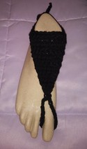 Hand Crochet Mens Black barefoot sandals Ready ... - $25.00