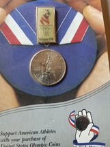 1995 Olympic half dollar and pin - $19.95