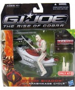 G.I. Joe The Rise of Cobra Storm Shadow with Arashikage Cycle Vehicle an... - $29.21