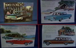 1961 FORD Automobile PRESTIGE Color Sales Brochure - MINT New Old Stock - $9.50