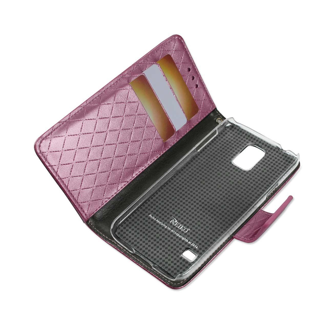 Reiko Samsung Galaxy S5 Rhombus Wallet Case In Hot Pink