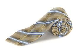 John Ashford Men's Neck Tie, EDI Grid, Taupe - $12.86