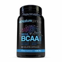 Natureganics MEGA BCAA Amino Acids Dietary Supplement, 1300 mg, 60 Capsules - $12.25