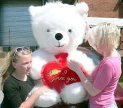American Made Giant Valentine Teddy Bear 54 Inch Soft I LOVE YOU Heart M... - $97.11