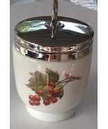 Royal Worcester Porcelain Evesham Peach & Red Currants, Egg Coddler Jar ... - $14.75