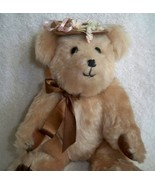 Vintage 1980s Handmade 10'' Classic Brown Teddy Bear Hat Jointed Moving ... - $35.59