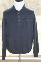 Chaps Ralph Lauren Size XL Navy Blue Sweater Cotton Blend Knit Long Sleeve (AF) - $17.80