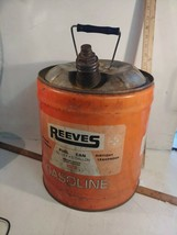 Vintage 1973 REEVES 5 Gal steel Gasoline Can Cyclops Dover OH No. L5-F - $19.00