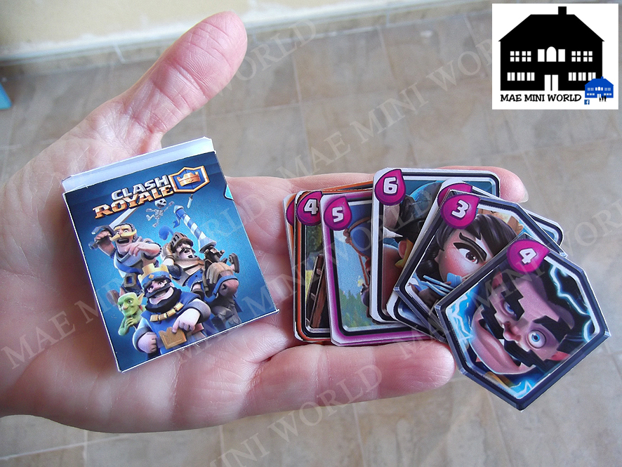 Used, Clash Royale Miniature replica cards for sale  USA