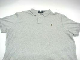 Polo Ralph Lauren Mens Polo Shirt Pima Cotton Soft Touch Gray Pony Golf XXL 2XL - $19.87
