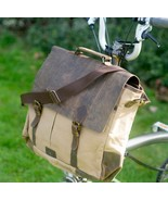 2017 Exclusive Messenger Bag for BROMPTON Waxed Canvas / Genuine Leather... - $122.91