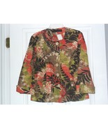 ALEXIS & AVERY JACKET/BLAZER SIZE 10 - 10P MULTI-COLOR FLORAL PRINT NWT - $19.99