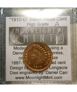 Daniel Carr SIGNED CERTIFICATE 1910-D INDIAN HEAD CENT HIGH GRADE DIE PA... - $130.00