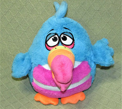 KOO KOO Birds RETWEET Talking Animated Plush Stuffed Blue Pink Striped A... - $17.82