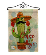 Mr Cactus Cinco de Mayo Burlap - Impressions Decorative Metal Wall Hange... - $33.97