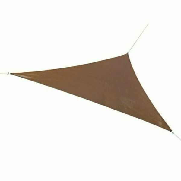 Coolaroo Ready-To-Hang Triangle Shade Sail 13 ft x 13 ft x 13 ft - Mocha NIP