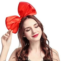 BUYITNOW Women Huge Bow Headband Cute Bowknot Hair Hoop for Halloween Co... - $10.50