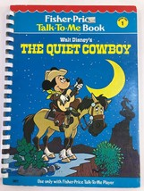 Fisher Price Talk To Me Player Book THE QUIET COWBOY #1 Mickey Mouse Disney - $9.49