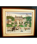 """Betty Friess Baumer Framed Folk Art """"The Quiltmakers"""" LE 87/950 - $30.00"""