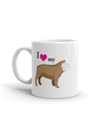 I love my bulldog coffee tea ceramic mug gift, bulldog mom or dad lovers... - $16.99