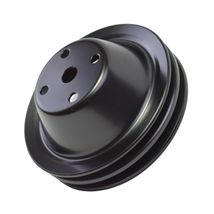 Long Water Pump Pulley LWP Double-Groove For Small Block Chevy SBC 262 350 400 image 8
