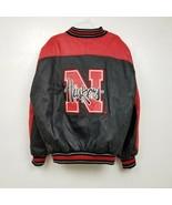 VINTAGE Nebraska Cornhuskers Mens Sports Pro Player Leather Jacket Size XL - $74.76