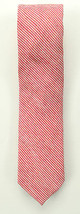 NEW BAR III FIRA SOLID RED STRIPE LINEN SILK NECK TIE - $8.90