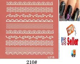 F5:Nail Art Manicure Tips Sticker w/Free 2PCS Rolls Striping Tape Line Nail Tips - $2.97