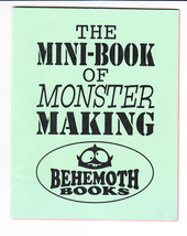 Mini-Book of Monster Making #1 VF/NM behemoth books - brian clopper 1999... - $4.50