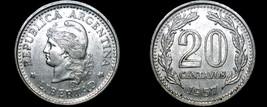 1957 Argentina 20 Centavo World Coin - $4.99