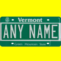 1/43-1/5 scale custom license plate set any brand RC/model car - Vermont... - $11.00