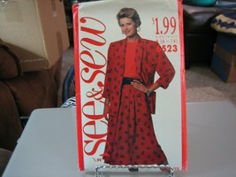 Butterick See & Sew 6523 Misses Unlined Jacket, Top & Skirt  Pattern - S... - $6.93