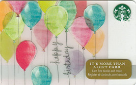 Starbucks 2014 Happy Birthday Collectible Gift Card New No Value - $2.99